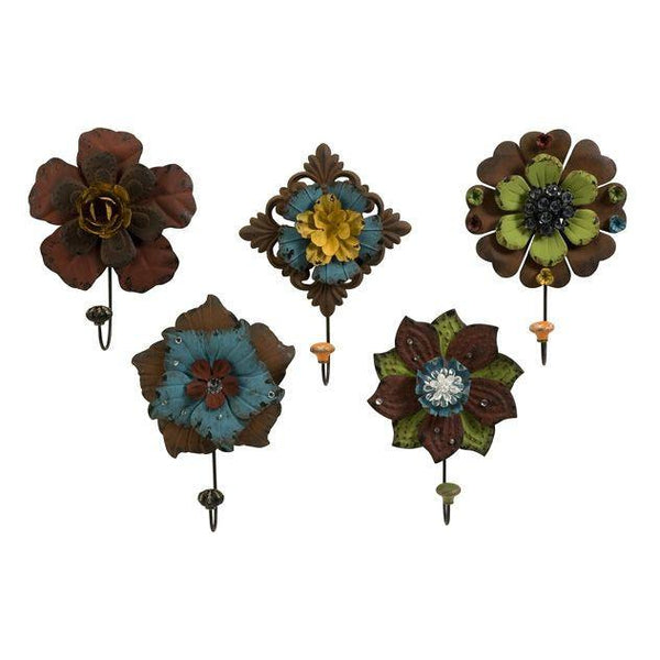 Caldwell Floral Wall Hooks - Set of 5