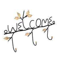"#COP3633 Metal ""Welcome"" Wall Mounted Coat Rack"