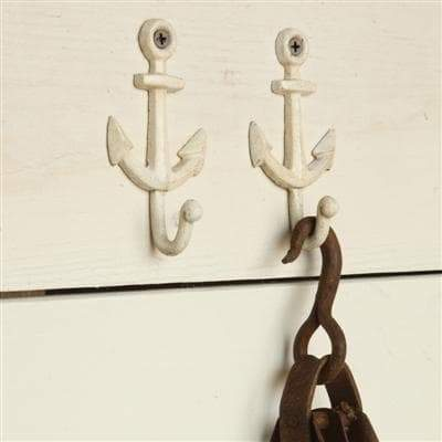 Anchor Wall Hook - White (Set/2)
