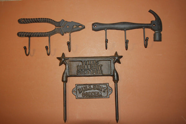 4) Fathers Day Gift Handyman Mancave Workshop Rustic Decor