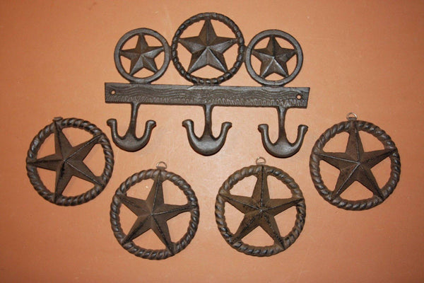 5) Lone Star Wall Decor, Fast Free Shipping, Rustic Cast Iron Lone Star Wall Hook, Wall Plaque, Barn Decor,Texas home decor