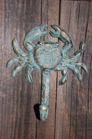 16, Crab, BL, Wall Hooks, Bronze Look, Nautical Wall Hook, Crab Wall Hook, Cast Iron, Towel Holder, Beach, Restaurant, Patio Bar~