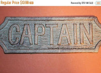 1 piece), Captain gift, Captain decor, fast and free shipping, cast iron captain's quarters sign, Gift for him, Nautical sign