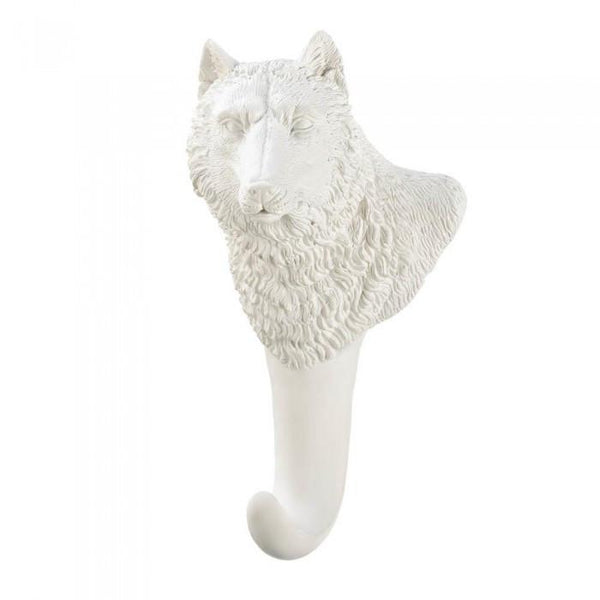 Accent Plus White Wolf Wall Hook