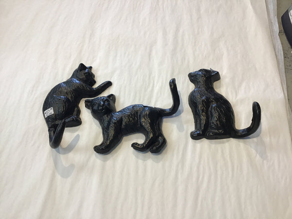 Cat wall hook cast iron