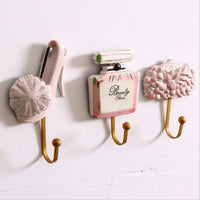 3 pcs/set Mediterranean style high heels Key Holder Wall hooks