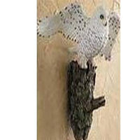 Snowy Owl Sculpted Wall Hook