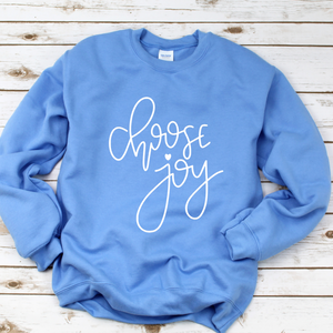 Choose Joy Blue Sweatshirt