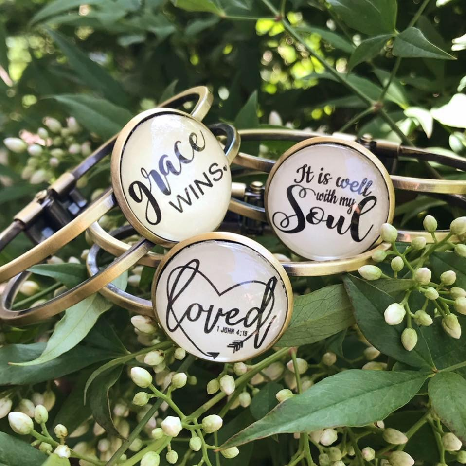 Hand Crafted Message of Faith Bracelets