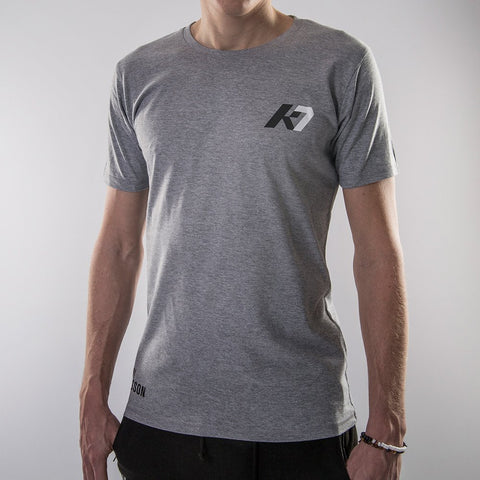 K7 Men's T-shirt Casual Grey