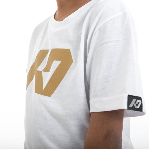 K7 Junior T-shirt White/Gold Edt