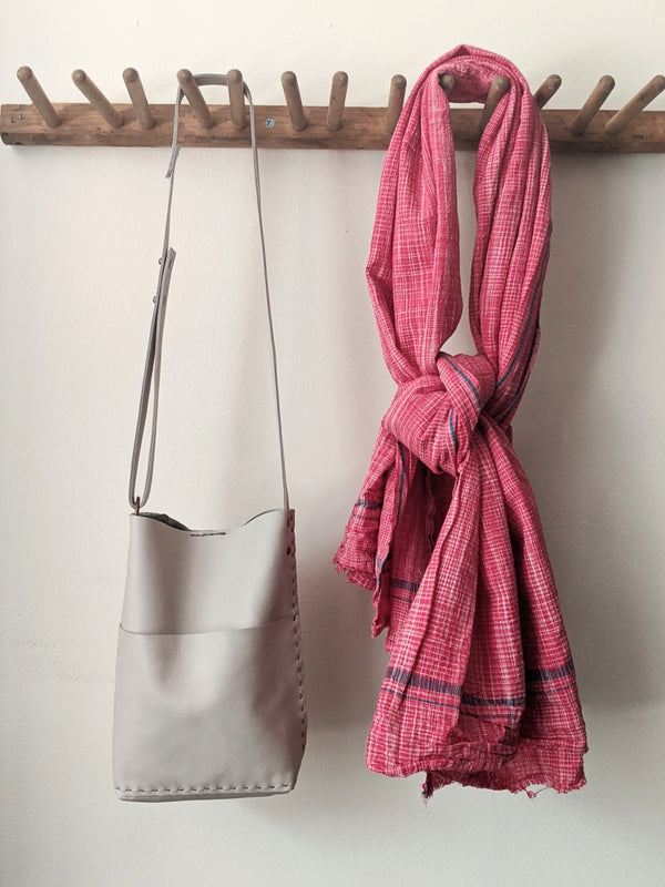 khadi cotton lungi scarf or throw homespun handwoven