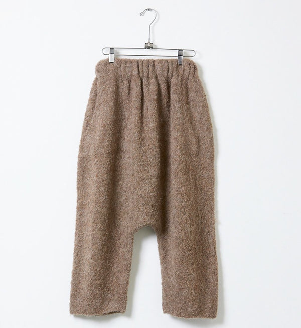 Kiko Harem Knit Boucle Pants - Deer Brown