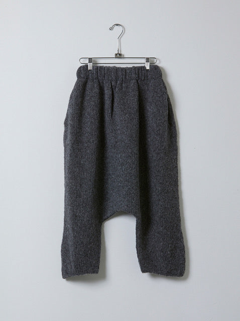 Atelier Delphine Kiko harem knit boucle  pants in a very soft baby alpaca  and wool mix. Available in Charcoal and Deer