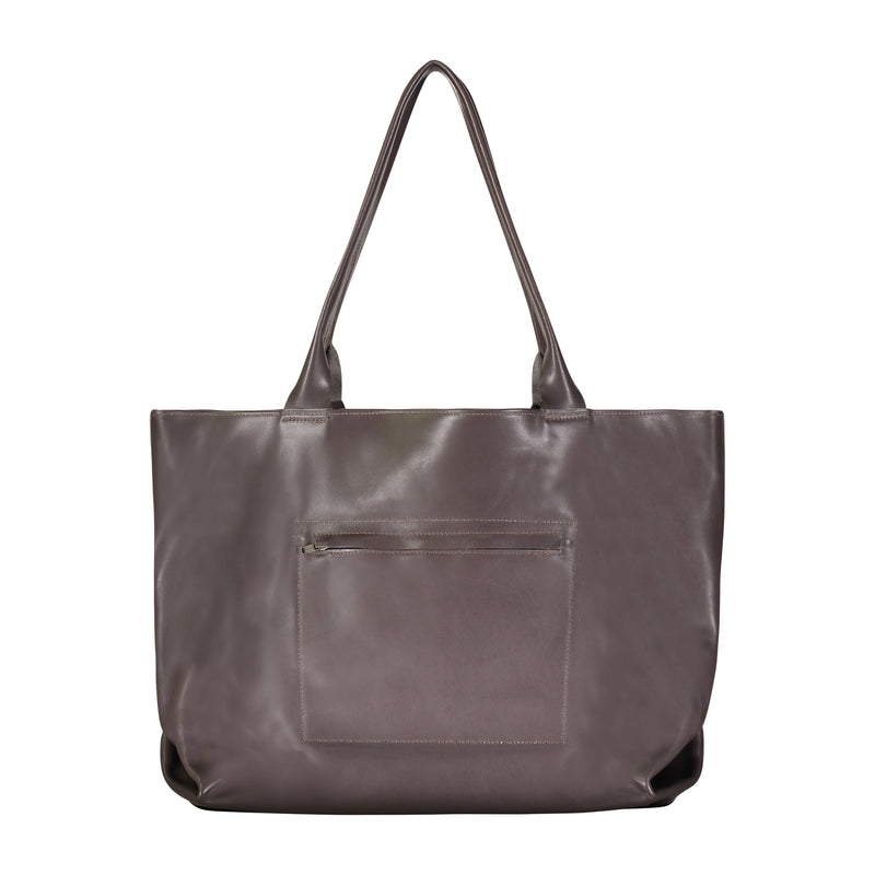 Concorde Leather Tote - Warm Grey