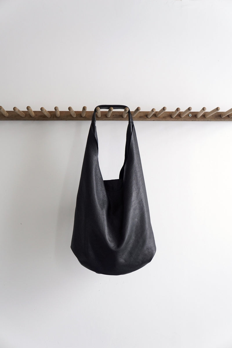 Slouch Bag - Black Leather - 2 sizes - Price from