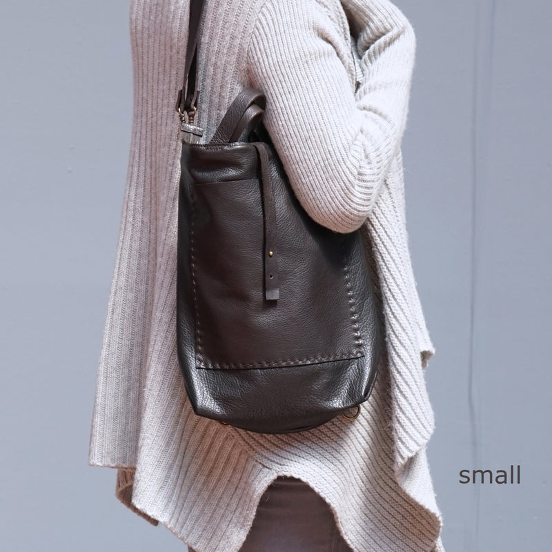 Bercy - Convertible Backpack - Shoulder Bag - Crossbody - Espresso