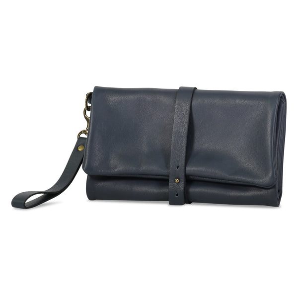 The Traveler - Oversized Travel Wallet Clutch with Removable Strap