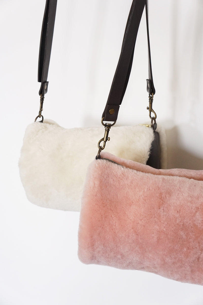 Saint Germain Shearling Crossbody Bag