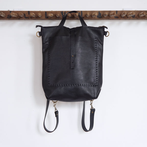 Bercy - Convertible Backpack Shoulder Bag Crossbody - Black - Price from