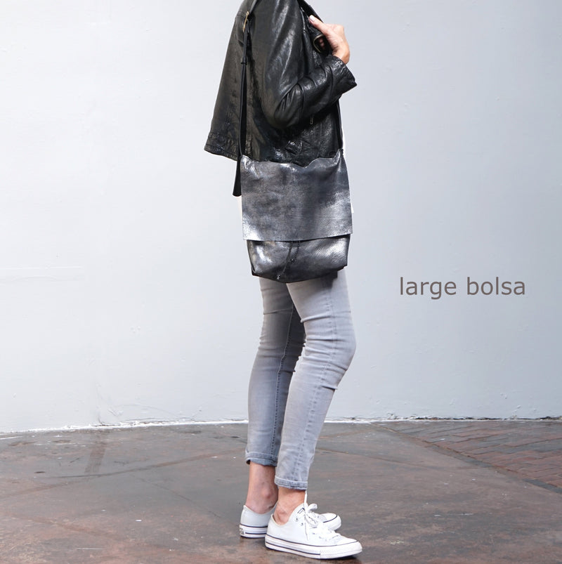 Bolsa - Messenger Crossbody Bag - Distressed Camel or Solid Camel - 3 Sizes - Price from