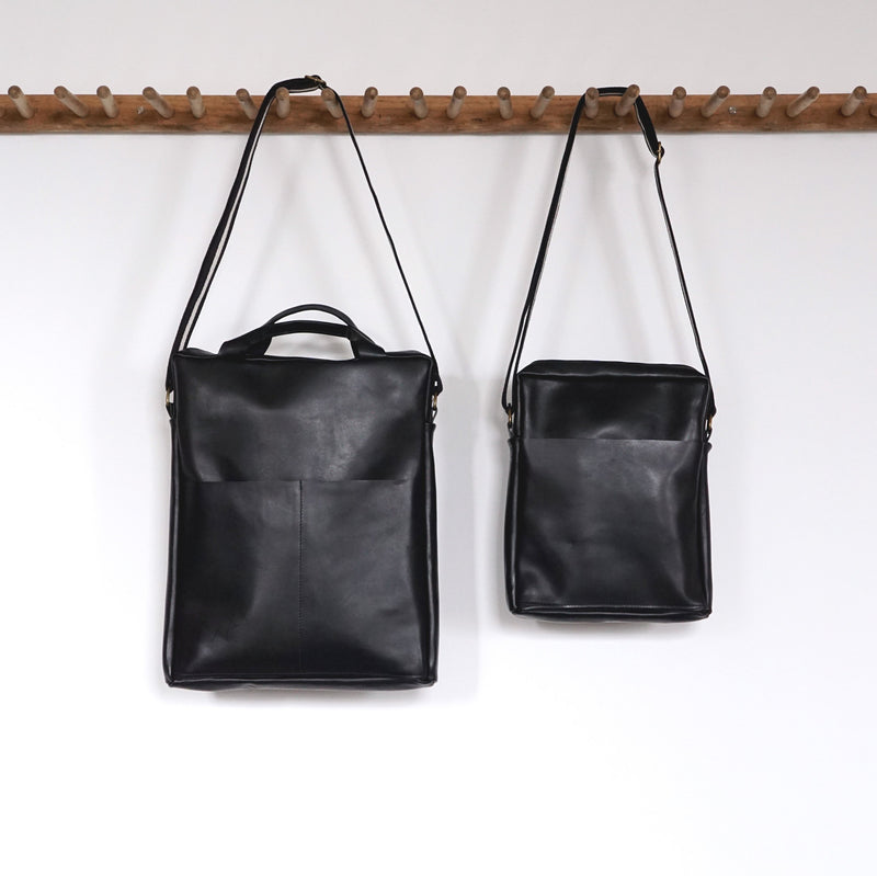 Unisex Computer Messenger Bag - Large or Small - Black - Price from
