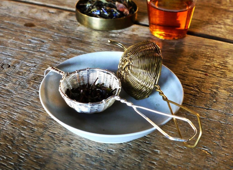 Petite Brass Basket Tea Strainer