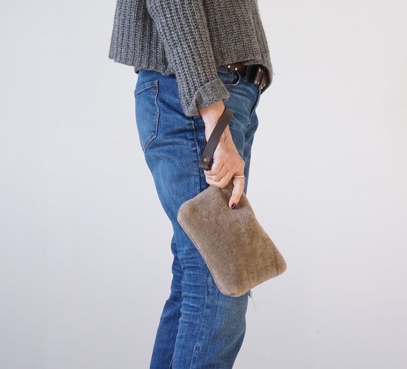 The Tolbiac Shearling Wristlet
