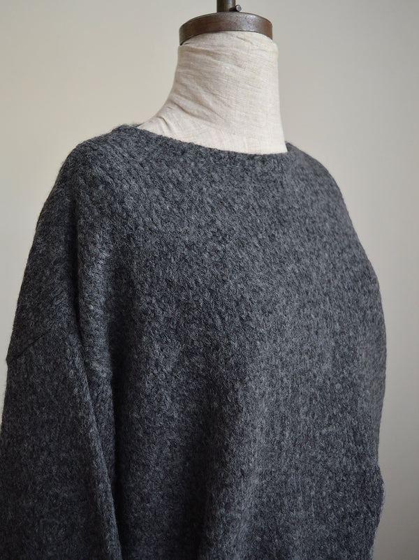 Sale Atelier Delphine Balloon Sleeve Sweater baby alpaca  and wool mix. Cozy loungewear or street wear Available in Charcoal and Deer