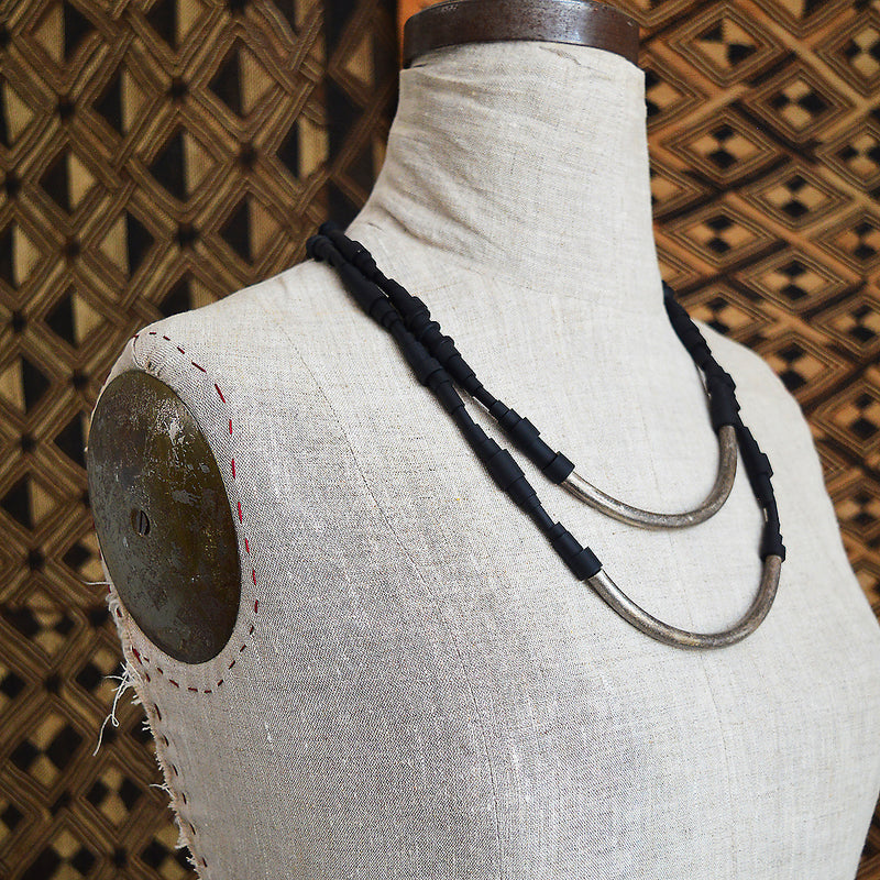 french jewelry rubber necklace handmade in paris ALEX+SVET