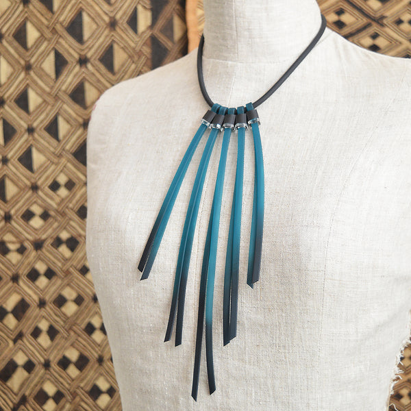 Tenerife Necklace by ALEX+SVET rubber jewelry necklace acrylic jewelry