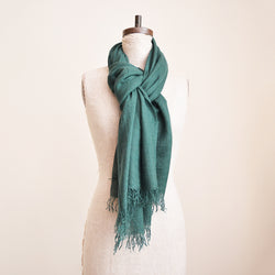 You can never have too many of Chan Luu cashmere and silk scarves. Super soft and lightweight - perfect to wear year round. Made of high quality Mongolian cashmere. Fringe trim along the edge. The perfect gift or treat for yourself!  70% cashmere 30% silk