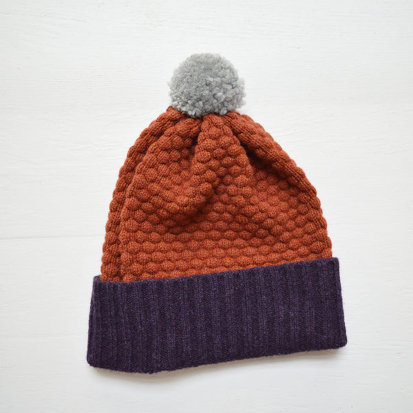 Lambswool Bobble Hat - Solid Colors