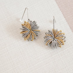 La Mollla stainless steel earrings mixed metals made of industrial springs