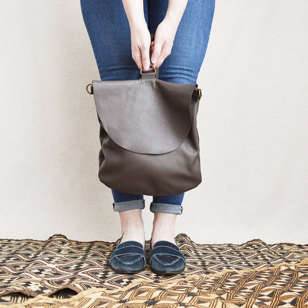 SALE! Convertible backpack/crossbody handmade leather bag. Made in Boston.