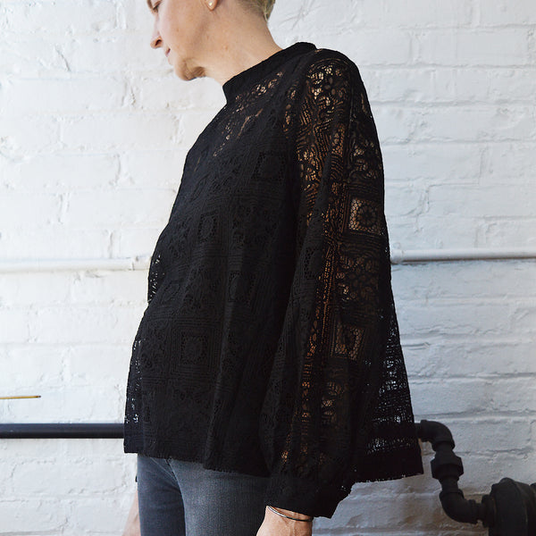 Hansel from Basel Misha top blouse black lace