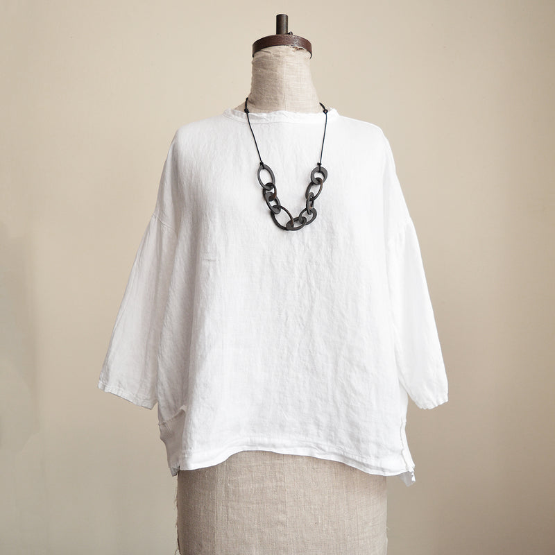 Aequamente  boxy linen top blouse made in Italy