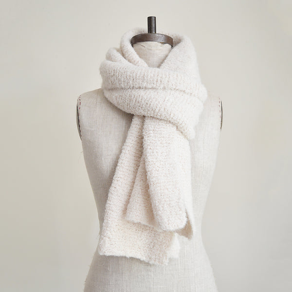 Organic Made of the softest alpaca wool, these scarves are hand knit by a collective of mothers in Peru.