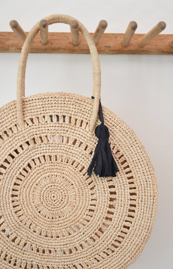 Circle Raffia Tote by Maison N.H. Paris