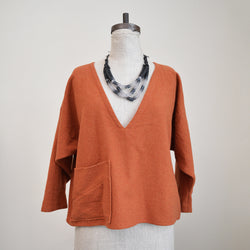 Handmade Cropped Top - Rust Wool
