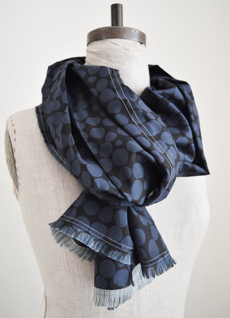 Pilgrim Waters Design  Midi scarf by  Susy Pilgrim Water.  Cotton silk scarf.