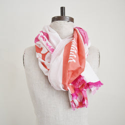 Pilgrim Waters Design Midi Scarf. Cotton silk scarf by  Susy Pilgrim Waters.