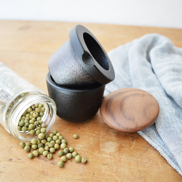 Made to last by Skeppshult's, in their 100 yr old Swedish foundry that produces professional-grade cast iron cookware with the highest quality iron.  Boston shop. Cast iron spice and pepper mill.