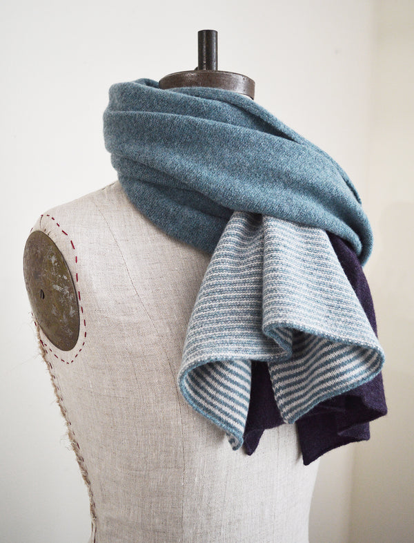 Unisex over-sized lambswool scarf by Catherine Tough Textiles.  100% merino lambswool  Made in Scotland. 100% pure New Wool.