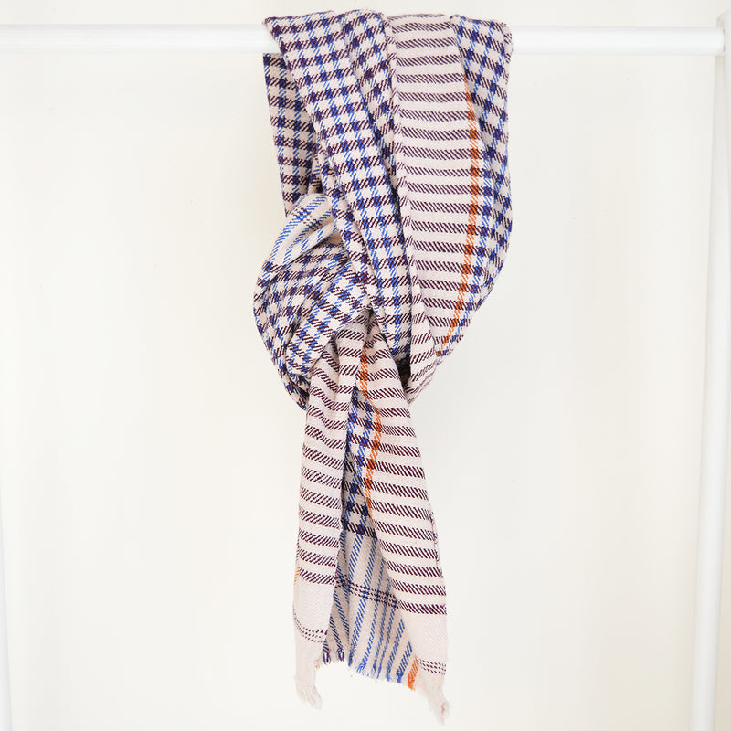 Cotton Khadi Plaid Throw