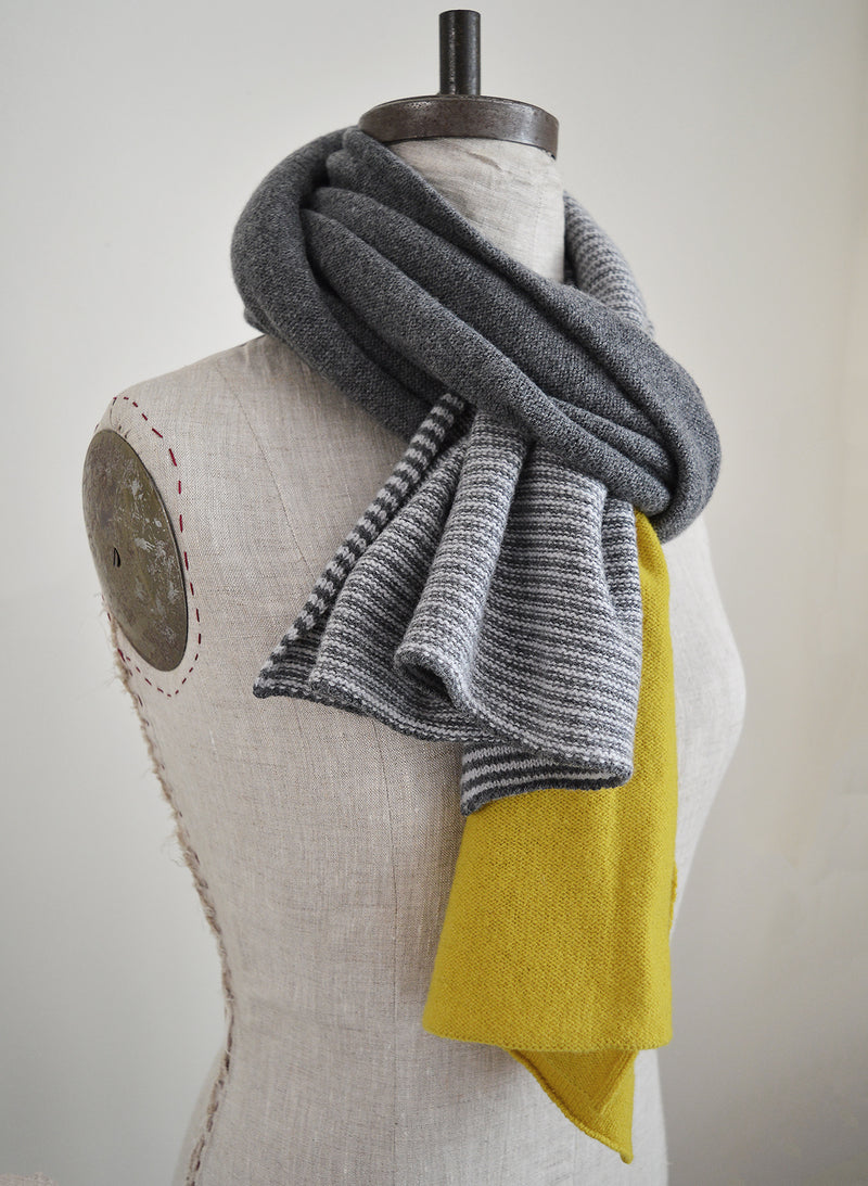 Unisex over-sized lambswool striped scarf by Catherine Tough Textiles.  100% merino lambswool  Made in Scotland. 100% pure New Wool.
