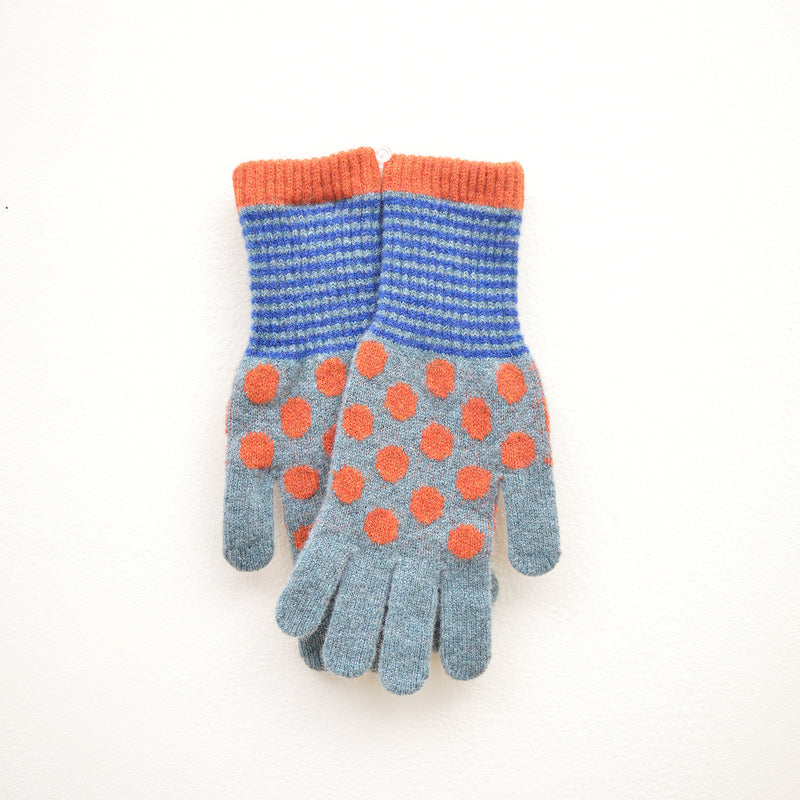 Women's Lambswool Gloves - Dots