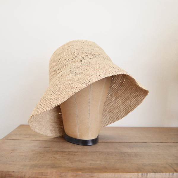 Noha raffia sun Hat by Maison N.H. Paris