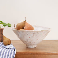 Large Dotted Ceramic Salad Bowl