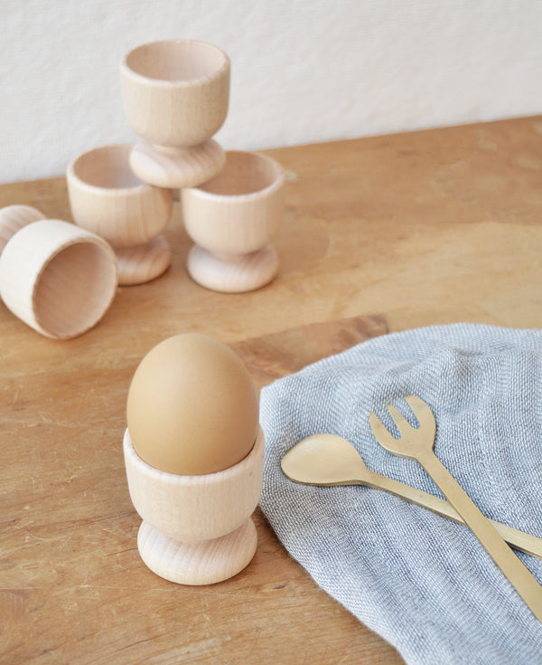 Minimalist egg cup - perfect for your morning egg! Made from natural wood and simple in design - the perfect way to spruce up your morning routine!